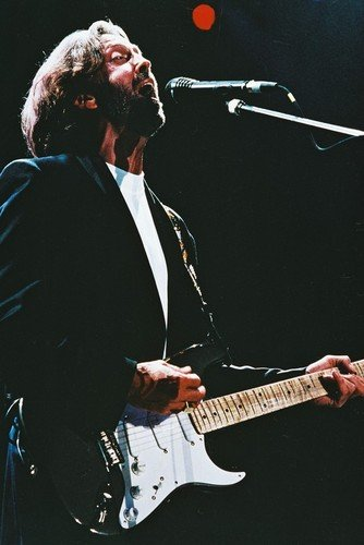 Eric Clapton With Guitar In Concert 24x36 Poster