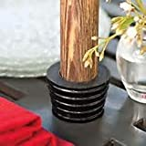 Patio Umbrella Hole Wedge for Patio Table - The Original - American Made - Scent Free - Polyurethane(Black)
