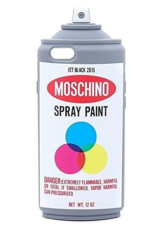 Moschino Color grafito Spray de pintura botella suave carcasa de silicona para iPhone 6 (4