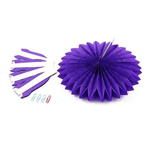eDealMax Tissue Paper Folding Fan Fiore Viola Finestra Festa nuziale di Compleanno Home Decor
