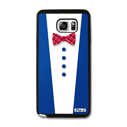 - Pin-1 Snap-on Hard Case with Black TPU Bumper for [Samsung Galaxy Note 5] - Art Design White V Neck Fashion 1997