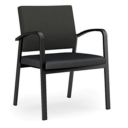 Newport Fabric Back Vinyl Seat 400 lb. Capacity Guest Chair Dimensions: 27