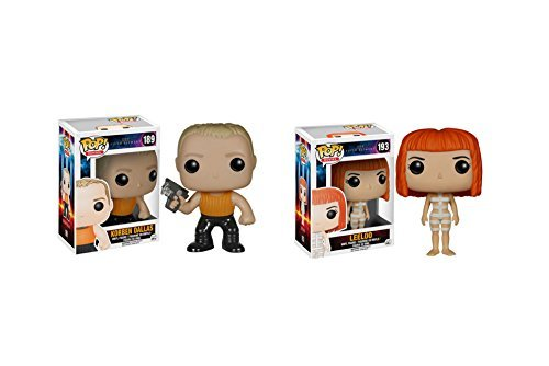 Funko POP The Fifth Element Movie: Korben Dallas and Leeloo - 2 Piece BUNDLE