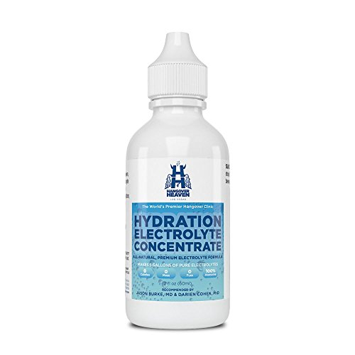 Hangover Heaven Dr Formulated Hydration Electrolyte Concentrate for Rapid Rehydration | ZERO Sugars & Additives | Contains Sodium, Potassium & Magnesium | NO Artificial Preservatives or Calories