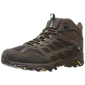 Merrell Men's Moab FST Mid Waterproof Hiking Shoe, Brown, 12 M US