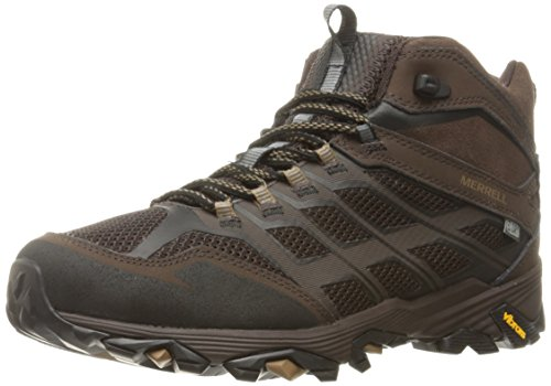 Merrell Men's Moab FST Mid Waterproof Wide Width Brown Hiking Shoe - 8.5 2E US