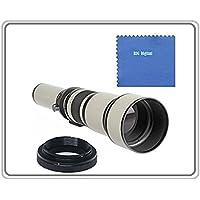 BiG DIGITAL 650-1300mm f/8-16 IF Telephoto Zoom Lens (White) for Canon EOS Rebel SL1, (100D) T5i, (700D) T4i, (650D) T3, (1100D) T3i, (600D) T1i, (500D) T2i, (550D) XSI, (450D) XS, (1000D) XTI (400D) XT, (350D) 1D C, 70D, 60D, 60Da, 50D, 40D, 30D, 20D, 10D, 5D, Mark II, III, 1D X, 1D C, 1D Mark IV, 1D(s)Mark III, 1D(s)Mark II(N) , 5D Mark 2, 5D Mark 3, 7D, 6D Digital SLR Cameras