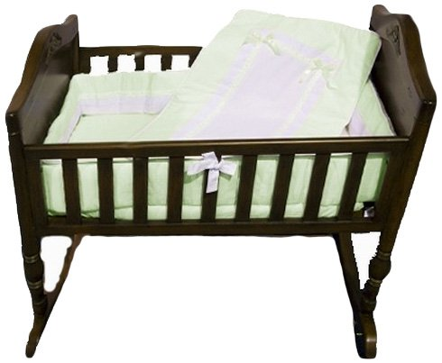 Baby Doll Bedding Royal Cradle Bedding Set, Mint by BabyDoll Bedding