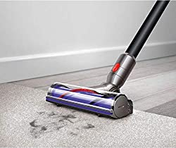 With up to 40 minutes of runtime with a non-powered tool and 150% more brush bar power than the Dyson V6 Cord-free vacuum, the Dyson V8 Motorhead cordless vacuum has power and versatility. Perfect for all floor types, the direct drive cleaner head dr...