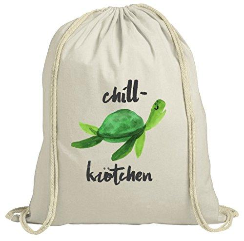 ShirtStreet Turtle Schildkröte natur Turnbeutel mit Chillkrötchen 2 Motiv Natur