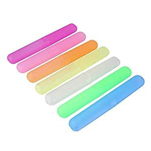 sgerste plástico cepillo de dientes funda viaje cepillo de dientes titular cubierta protectora de almacenamiento para