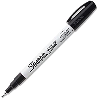 Sharpie Oil-Based Paint Marker, Extra Fine Point, Black Ink,Pack of 3