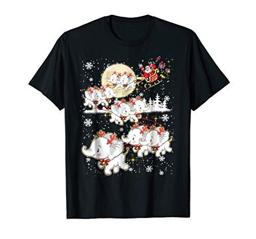 Elephant Reindeer Christmas - Nice Elephant Tshirt