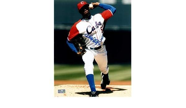 check out e764a 97300 Aroldis Chapman Autographed Signed Auto WBC Team Cuba 8x10 ...