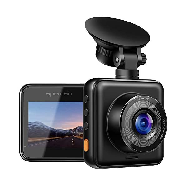 APEMAN Mini Dash Cam 1080P Full HD Dash Camera for Cars Recorder Super Night Vision,...
