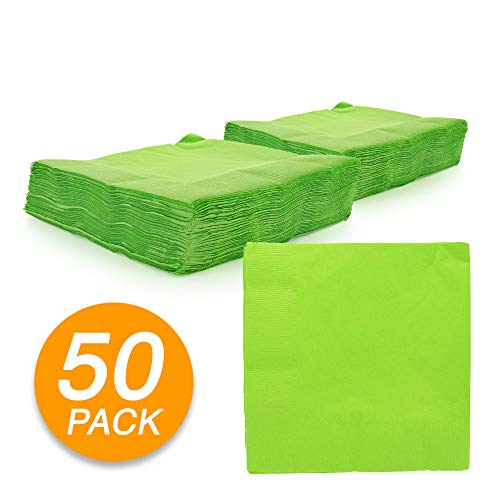 (Amcrate Big Party Pack 50 Count Kiwi Green Dinner Napkins Tableware- Ideal for Wedding, Party, Birthday, Dinner, Lunch, Cocktails. (7