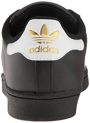Scarpe Da Ginnastica Adidas Originali Da Donna Superstar Nero / Bianco / Metallizzato / Oro