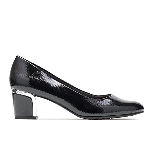 Soft Style by Hush Puppies Women's Deanna Dress Pump, Black Crosshatch Patent, 8 M US (Best Selling Shoes In The World)
