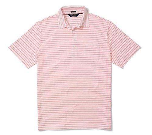 Ralph Lauren Men's Polo Golf Shirt - Classic Fit Pima Cotton - White/Rose