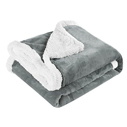 LANGRIA Sherpa Blanket Super Soft Warm Breathable Lightweigh
