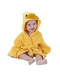 Meng Ge Unisex BabyAnimal Cartoon Hooded Spa Robe for 0-6 Years Old