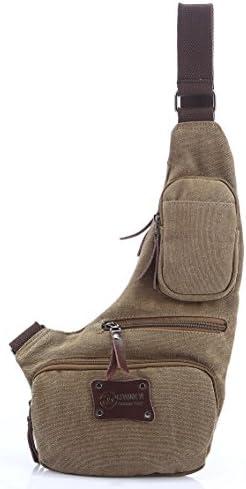 Genda 2Archer Small Casual Canvas Sling Shoulder Crossbody Backpack Chest Bag