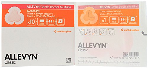 Allevyn Gentle Border Dressing - Allevyn Gentle Border Multisite Foam Dressing - 6 3/4