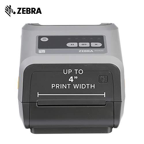 Zebra - ZD420t Thermal Transfer Desktop Printer for Labels and Barcodes - Print Width 4 in - 203 dpi - Interface: USB - ZD42042-T01000EZ by Zebra Technologies (Image #2)
