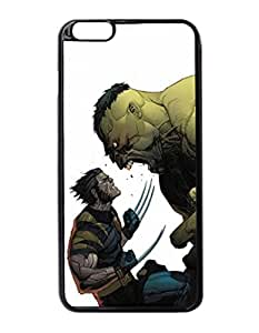 """Angry Hulk Vs Wolverine - Custom Image Case iphone 6 -5.5 inches case , Diy Durable Hard Case Cover for iPhone 6 Plus (5.5"""") , High Quality Plastic Case By Argelis-Sky, Black Case New"""