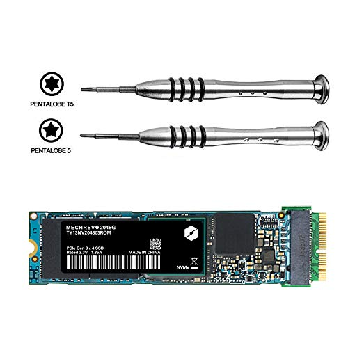 MECHREVO 512GB SSD Upgrade Kit Replacement for Mid 2013 2014 2015 2016 2017 MacBook Air Pro Retina, PCIe Gen3 x4 NVME Solid State Drive for A1465 A1466 A1398 A1502 and Mac Pro by MECHREVO (Image #2)