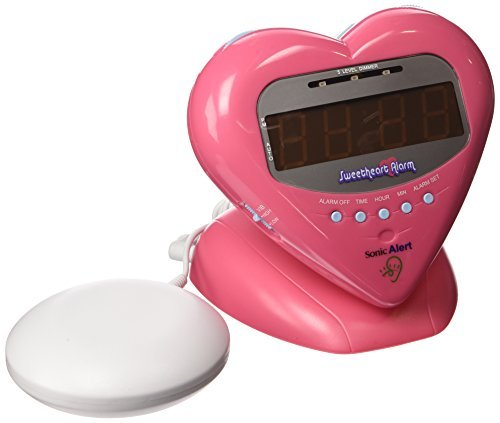 Sonic Alert SBH400ss Sweetheart Alarm Clock with Bed Shaker,
