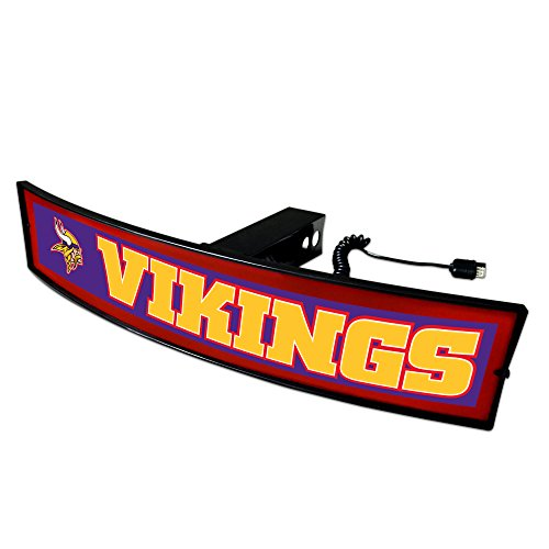 (Fanmats NFL Minnesota Vikings 20945 Light Up Hitch Cover, One Size, Team)