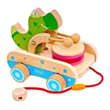 Wooden Pull Car Toys for Toddlers , Crocodile