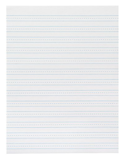 School Smart 3 Hole Skip A Line Filler Paper with Margin - 8 x 10 1/2 inches - Pack of 200 Sheets - White by School Smart