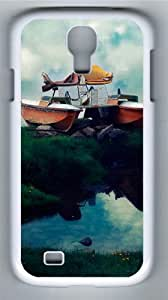 Flying Boat PC Case Cover for Samsung Galaxy S4 and Samsung Galaxy I9500 White