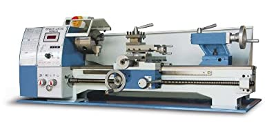 "Baileigh PL-1022VS Variable Speed Bench Top Lathe, 110V, 1hp Motor, 10"" Swing, 22"" Bed Length"