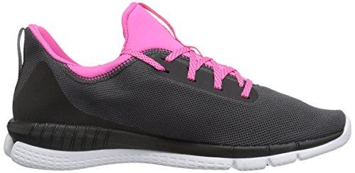 Reebok Womens Imprimer Son 2.0 Piste Chaussure Cendres Gris / Noir / Blanc / Rose Solaire