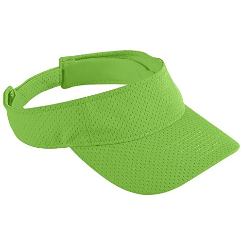 - Augusta Activewear Athletic Mesh Visor-Youth, Lime, One Size