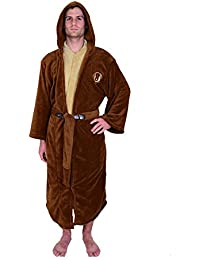baf31909ec Jedi Master Fleece Hooded Bathrobe Robe Brown · Star Wars