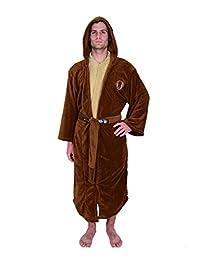 Star Wars mens Star Wars Jedi Tunic Hooded Fleece Robe Standard
