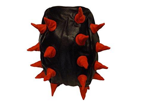 backpack by copy hedgehog Back Red goth Catz bag student Black faux handbag Emo soft unisex pack Fat punk Spiked spiked rucksack catz Black leather wABTP6xq