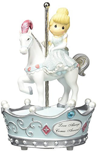 Precious Moments, Disney Showcase Collection, Love Always Comes Around, Resin Music Box, 131110 (Disney Carousel Music Box)