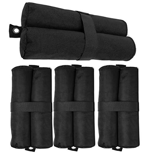(Premium Pop Up Canopy Tent Weight Bags, Heavy Duty Sandbag Weights, Anti-tear Thick Canvas Sand Bags for Legs, Fit All Umbrellas Outdoor Gazebo Sun Shelter, Set of 4, Sand Not Included.)