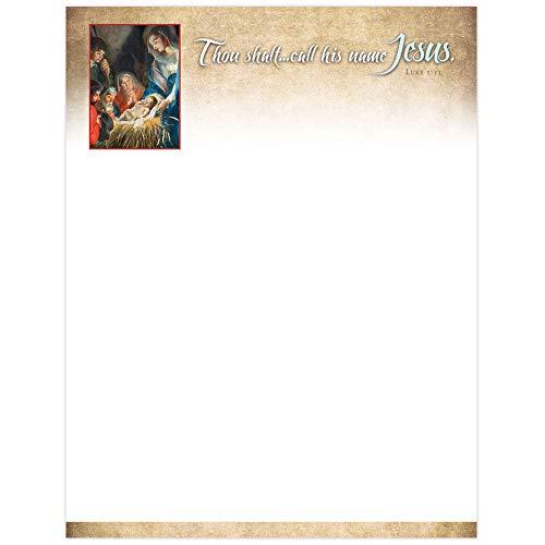 Letterhead - Christmas - Jesus (Pack of 100) (Art Letterhead Christmas)