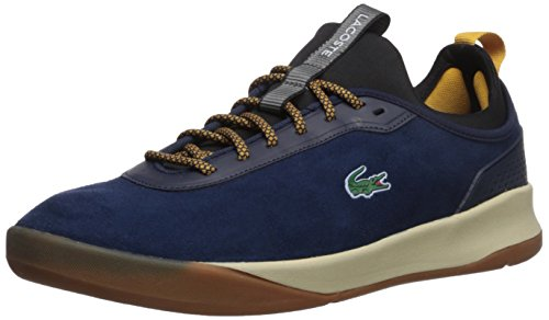 Lacoste Men's LT Spirit 2.0 417 1 Sneaker, Navy/Yellow, 11 M US (Lacoste Yellow Shoes)