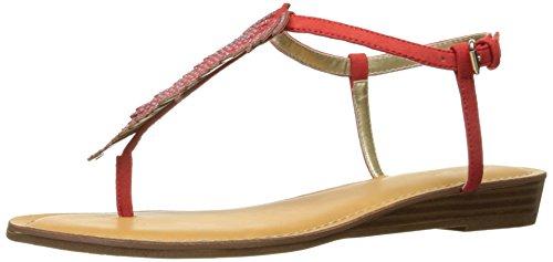 (Carlos by Carlos Santana Women's Tenor Flat Sandal, Paprika, 7.5 Medium US)