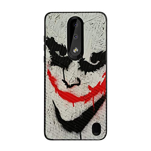 MINITURTLE Compatible with Nokia 3.1 Plus, Nokia X3, Nokia Feller Slim Fitted Embossed Texture Protective - Joker]()