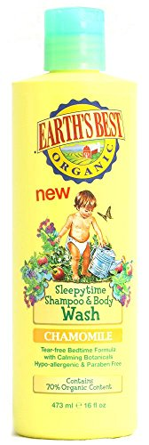 Price comparison product image Earth's Best Organic Sleepytime Shampoo and Body Wash - Chamomile - 16 fl oz Earth's Best Organic S