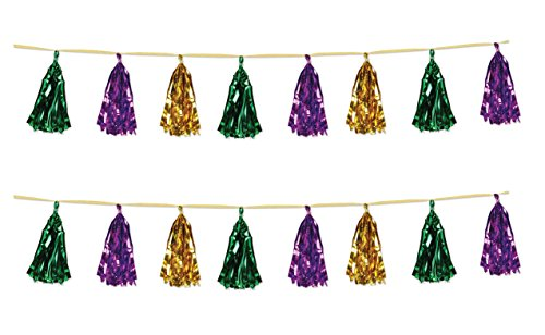 Beistle 59927-GGP Beistle 59927-GGP, 2 Piece Metallic Tassel Garlands, 9.75