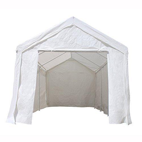 ALEKO CP1020WH Event Carport Garage Tent Shelter 10 20 x 8.5 White